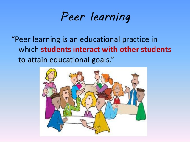 Peer learning is an educational practice in which students interact with other students to attain educational goals