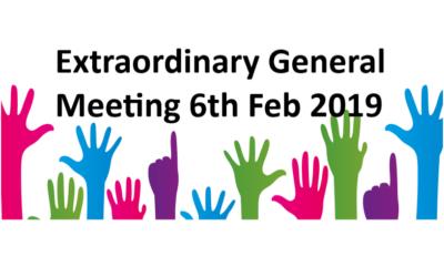 Extraordinary General Meeting (EGM) Wednesday 6th February 2019
